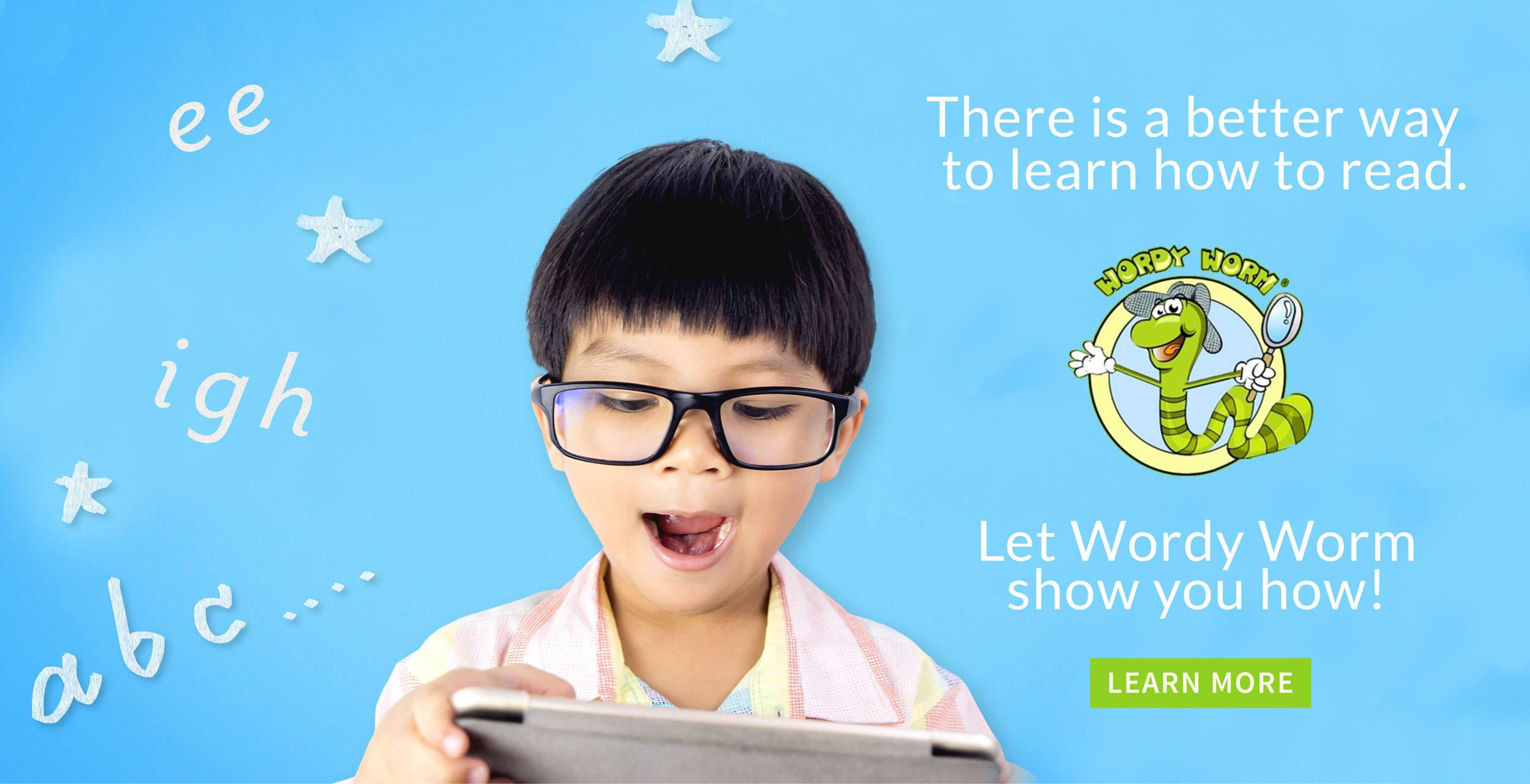 There is a better way to learn how to read with this phonics reading program. Let Wordy Worm show you how!